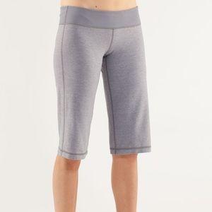 lululemon Clam Digger Grey Knee Length Capri Pants